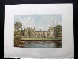Morris Sears C1870 Antique Print. Newstead Abbey, Lord Byron, Notts